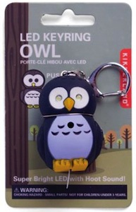 Owl key chain with light and sounds