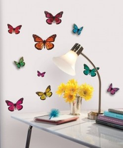 3D Butterflies Wall Decals