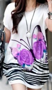 Butterfly Print Cotton Dress
