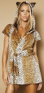 Cheetah Ear Hoodie Swim Robe