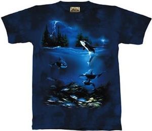 Orca whales t-shirt
