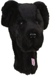 Black Labrador golf club head cover
