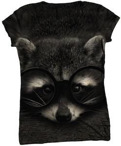 Cute Raccoon womens t-shirt