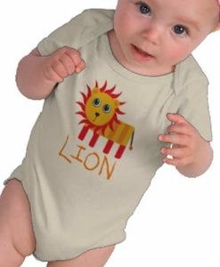 Cartoon Lion Baby Bodysuit