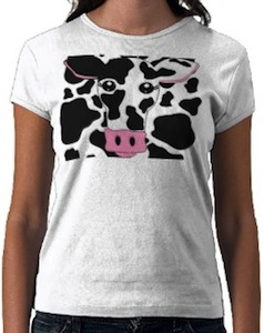 Cow T-Shirt with print and cow face