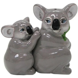 Koala bear mother and baby salt and pepper shaker set