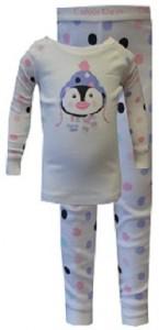Calvin Klein Penguin Polka Dots Toddler Pajamas for girls