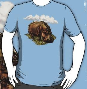 Grazzing Hippopotamus t-shirt