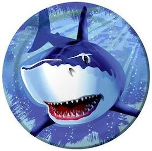 Shark dinner size paper plates