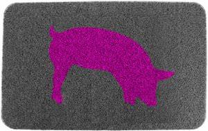 Pink Piggy Doormat