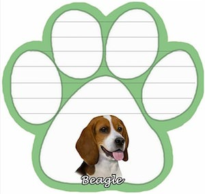 Beagle Pag shaped Magnetic Notepad