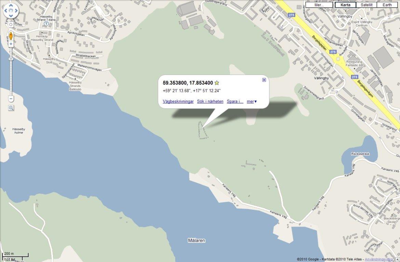 Stugängens placering på karta