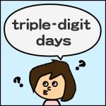 triple-digit days