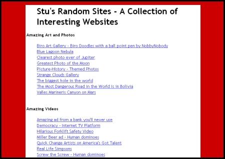 Stu's Random Sites