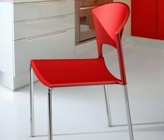 C Serie Stuhl Type rot