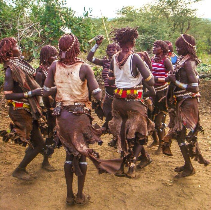 Hamer Bull Jumping Ceremony, Omo Valley, Ethiopia
