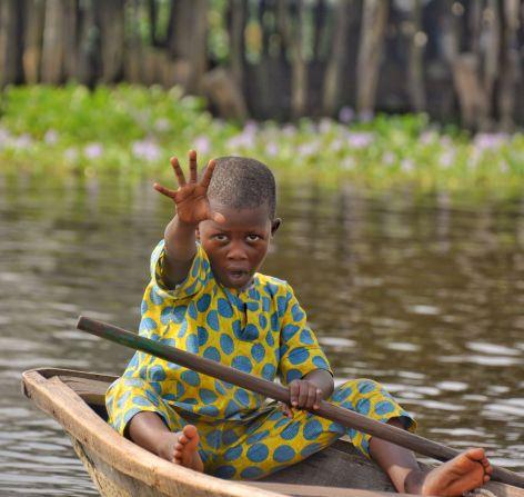 Youngster, Ganvie Stilt Village, Lake Nokoue, Benin