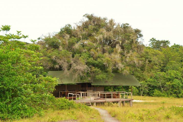 Tassi Camp Dining Area, Loango NP, Gabon
