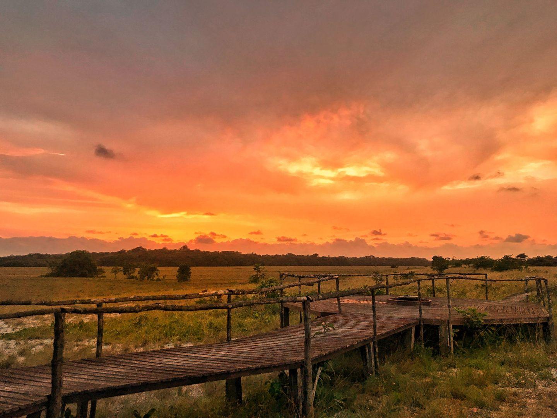 Tassi Camp Sunset, Loanfo NP, Gabon