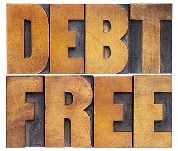 debt free in wood type