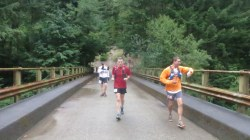 Coming into Buck Creek around mile 27