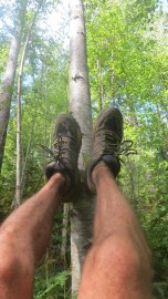 Had to stop and put the feet up for a few. Must of been around mile 40.
