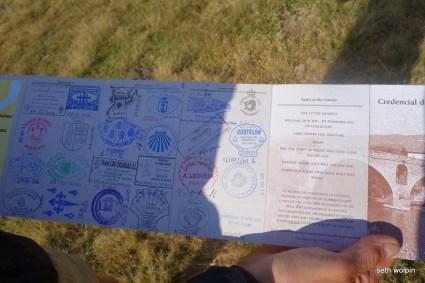 Matt's Camino Passport
