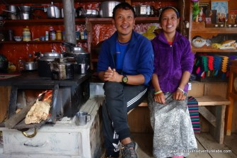 Proprieteers of the 'Lovely Guesthouse' in Kyang Jin Gompa - the last (and highest) village in the valley. Much of it was destroyed in the earthquake - the guesthouse has been totally rebuilt