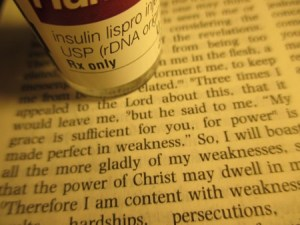 Chronic Illness diabetes insulin vial Bible verses