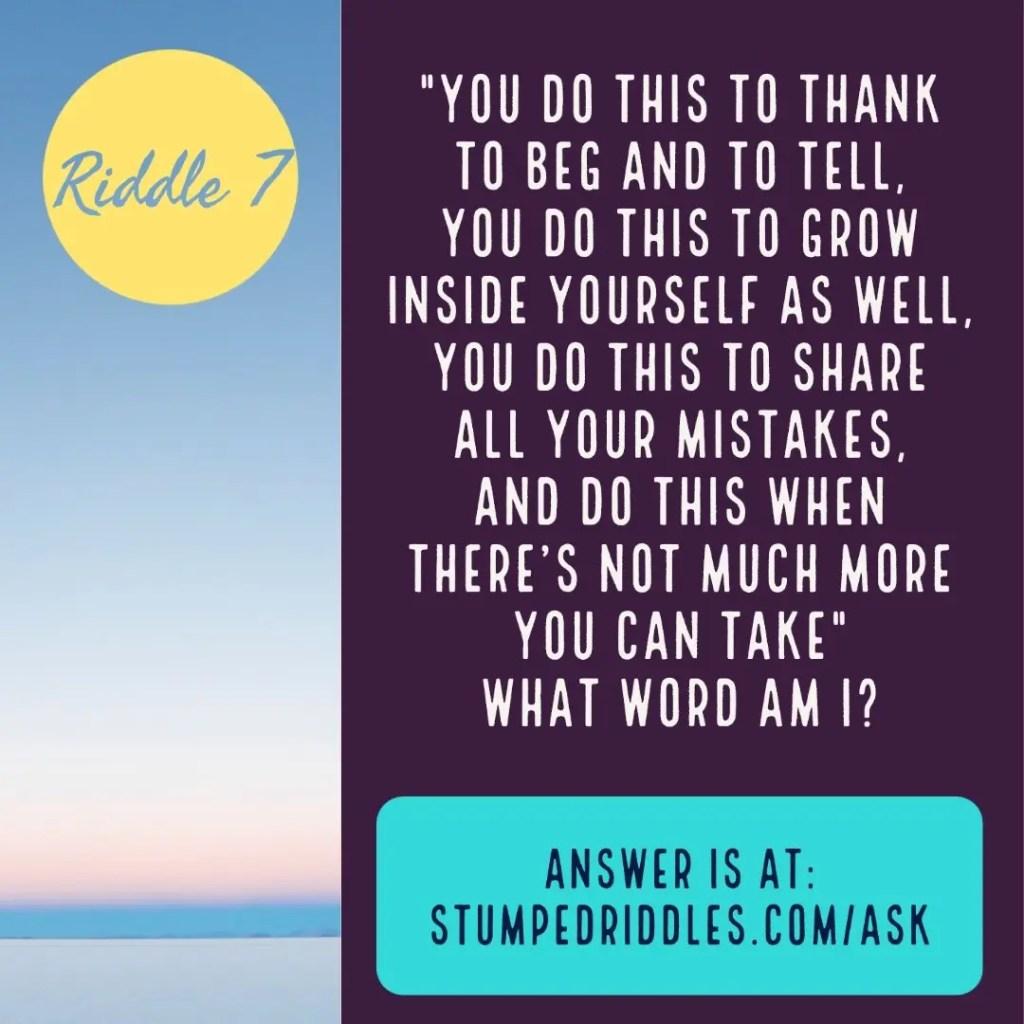 Riddle 7 at StumpedRiddles.com