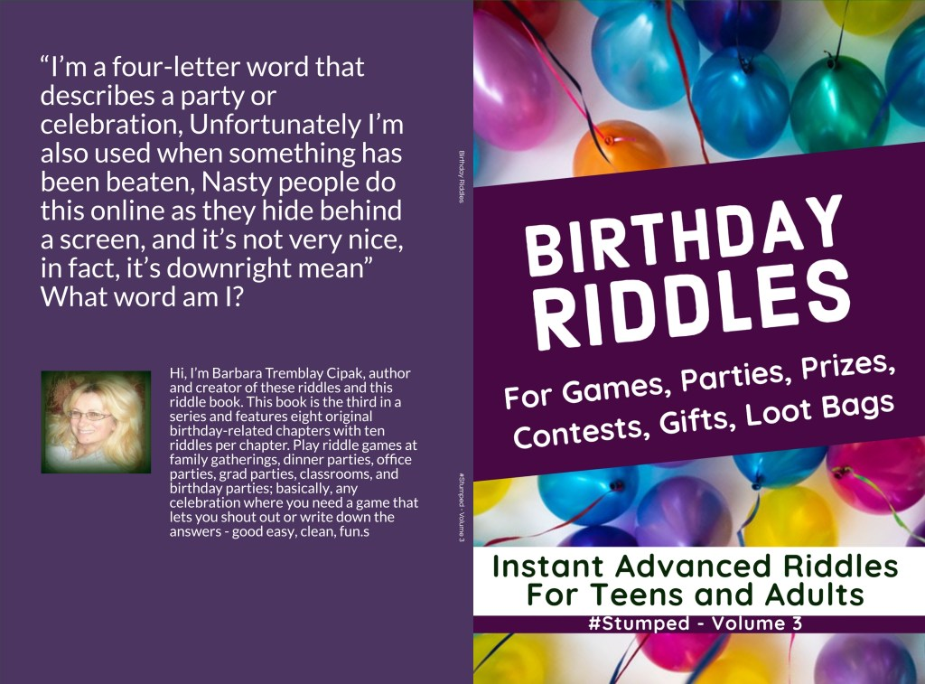 Birthday Riddles #Stumped Volume 3