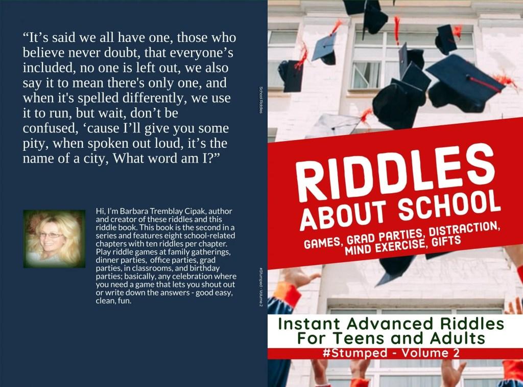 School Riddles - #Stumped - Volume 2 - Available on Amazon