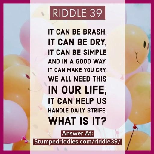 Riddle 39 on StumpedRiddles.com