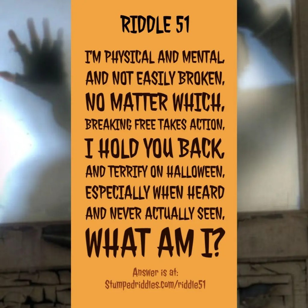 Riddle 51 - StumpedRiddles.com - Don't Let This One Rattle You