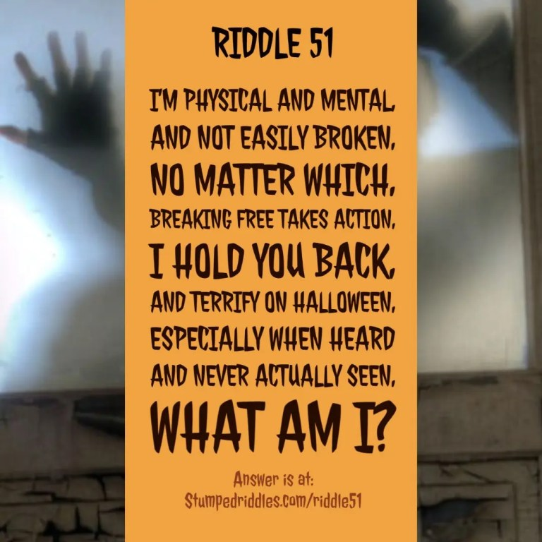 A Riddle With Twists and Turns - Riddle 51