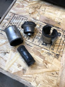 Old bushings, removed