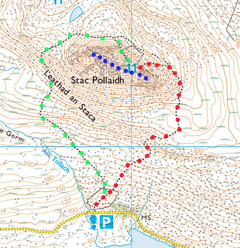Assynt Scotland Stac Pollaidh map