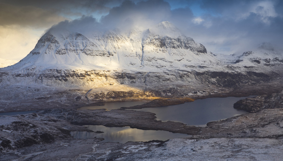 assynt scotland winter