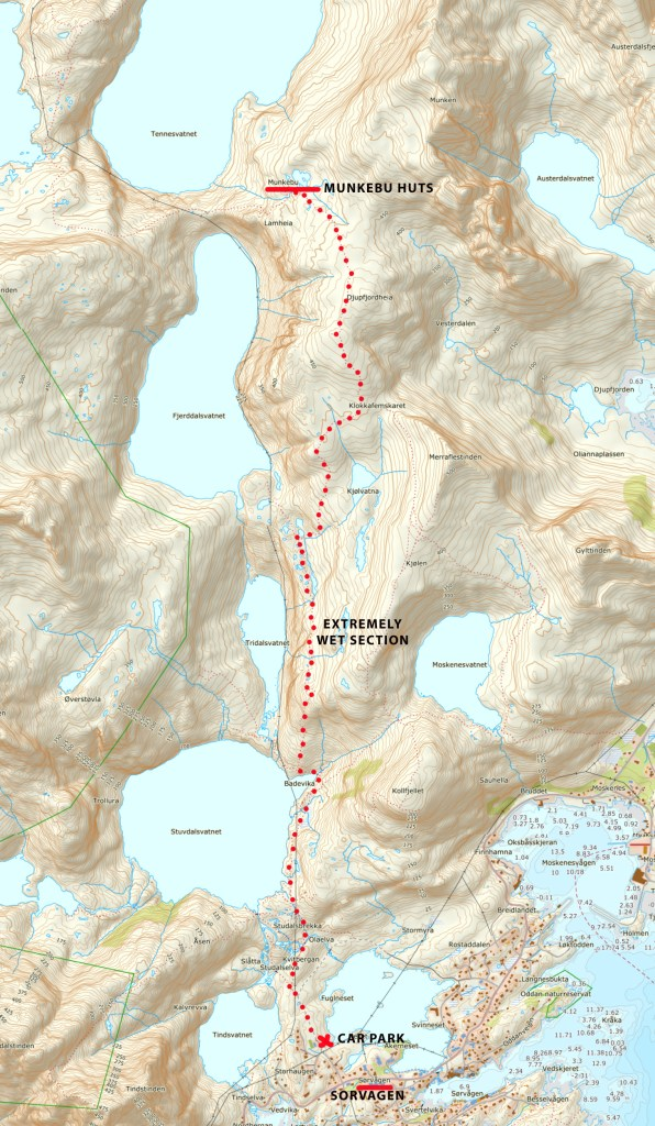 munkebu hike map