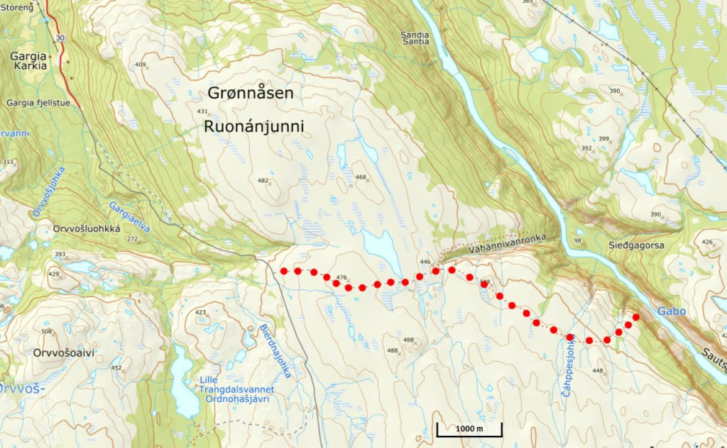 Alta Canyon hiking map