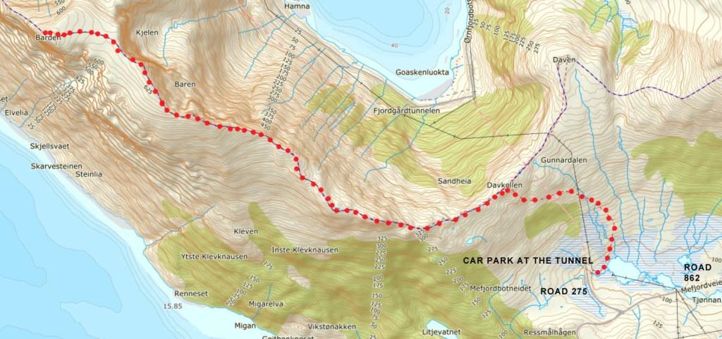 hiking Barden Senja
