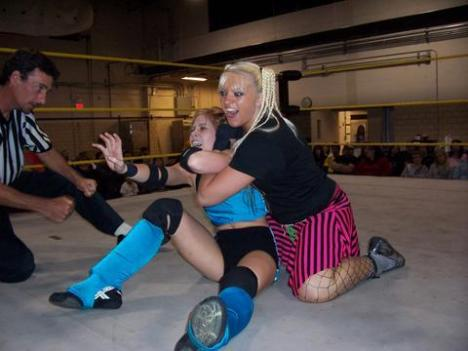 Hailey Hatred (blonde) is in my review.  We need more cheesecake in PWO!