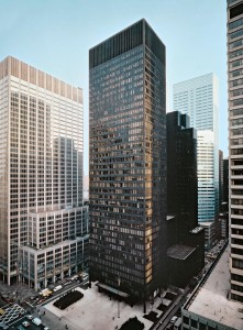 The Seagram Building designed by Mies van der Rohe & Philip Johnson. From studyblue.com