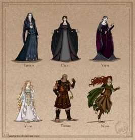The Silmarillion - The Lesser Valar by Wolfanita on DeviantArt.com