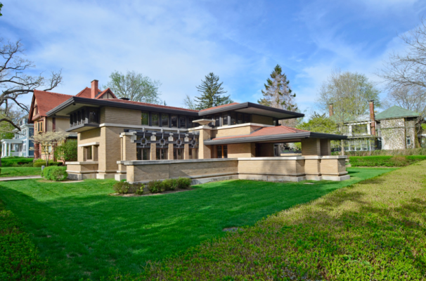 The Meyer May House in Grand Rapids MI. Designed by Frank Lloyd Wright. Picture from David Guthrie of therapidian.org