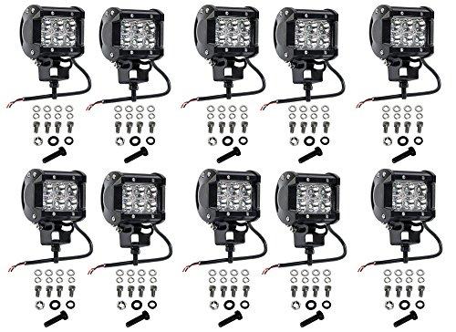 Cutequeen 4 X 36w 3600 Lumens Cree LED Spot Light for Off