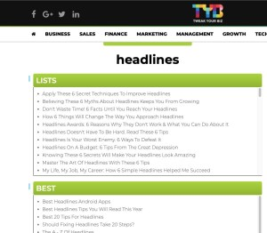 Headline Tools: Tweak You Biz