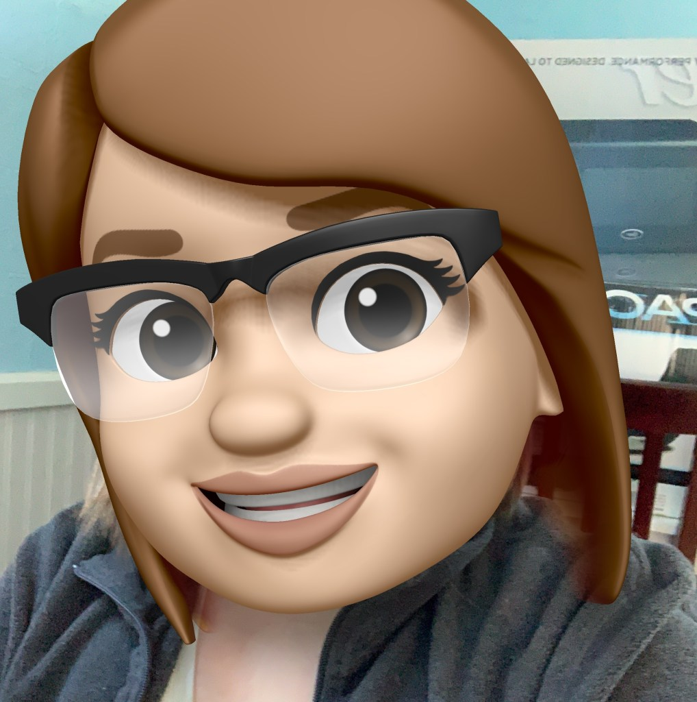 """My """"memoji"""" - essentially a big, animated version of my head pasted on my real-life body. It's cute, but silly."""