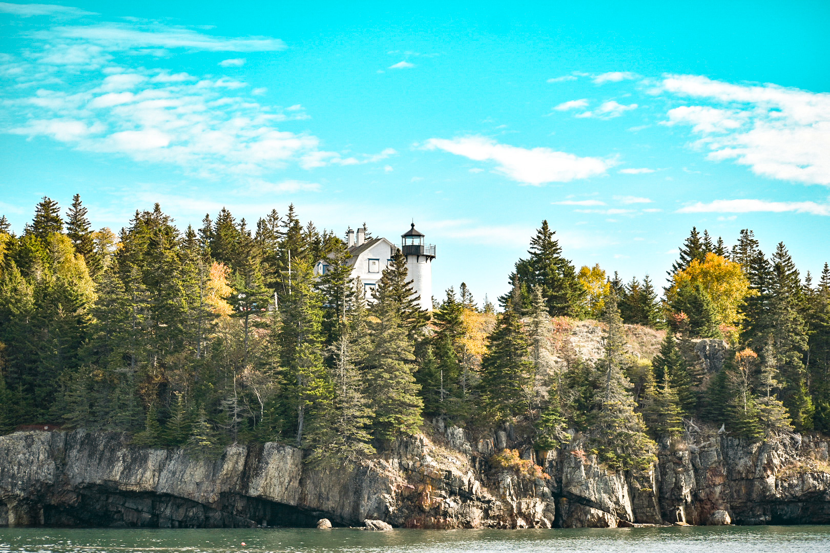 A lighthouse. On a cliff. Outside MDI.