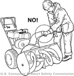Pic of snowblower warning.